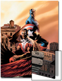 Captain America & The Falcon No.5 Cover: Captain America and Falcon Print by Steve Epting