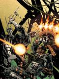 Bullseye Greatest Hits No.3 Cover: Bullseye and Punisher Signe en plastique rigide par Mike Deodato
