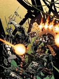 Bullseye Greatest Hits No.3 Cover: Bullseye and Punisher Plastikskilt af Mike Deodato