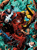 Avengers Academy No.4 Cover: Juggernaut Smashing Plastic Sign by Mike McKone