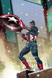 Captain America 11 Cover: Captain America Plastic Sign by Carlos Pacheco