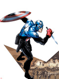 Captain America Corps No.1 Cover: Captain America with Shield and Dagger Wall Decal by Phil Jimenez