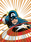 Captain America V4, No.27 Cover: Captain America Fighting Plastic Sign by Dave Johnson