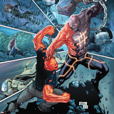 Avengers Academy No.19 Cover: Mettle Fighting the Absorbing Man Wall Decal by Billy Tan
