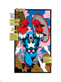 Uncanny X-Men No.268 Cover: Captain America Plastic Sign by Jim Lee