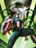Captain America: Hail Hydra No.1 Cover: Captain America Posing with a Shield Plastic Sign by Adi Granov