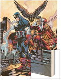 Captain America And The Falcon No.10 Cover: Captain America and Falcon Wood Print by Howard Porter
