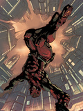 Daredevil 2099 No.1 Cover: Daredevil Crouching Plastic Sign by Pat Lee