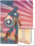 Captain America Theater Of War: America First! No.1 Cover: Captain America Wood Print by Howard Chaykin