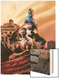 Captain America & The Falcon No.5 Cover: Captain America and Falcon Wood Print by Steve Epting