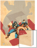 Captain America: White No.0 Cover: Captain America and Bucky Wood Print by Tim Sale