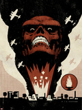 Red Skull No.1 Cover: Headshot of Red Skull Wall Decal by David Aja