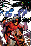 Daredevil: Dark Nights 7 Cover: Daredevil, Misty Knight Plastic Sign by Amanda Conner