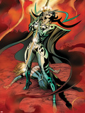 Avengers Prime No.4: Hela Standing Plastic Sign by Alan Davis