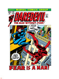 Daredevil No.100 Cover: Daredevil and Black Widow Wall Decal by Gene Colan