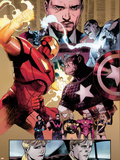 New Avengers No.48 Group: Captain America, Spider Woman, Ronin and Wolverine Plastic Sign by Billy Tan