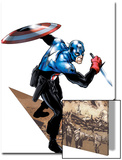 Captain America Corps No.1 Cover: Captain America with Shield and Dagger Posters by Phil Jimenez