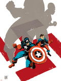 Captain America: White No.0 Cover: Captain America and Bucky Plastic Sign by Tim Sale