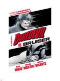 Daredevil No.6: Daredevil and Bruiser Plastic Sign by Marcos Martin
