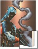 Captain America And The Falcon No.13 Cover: Captain America Wood Print by Dan Jurgens
