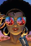 Daredevil: Dark Nights 8 Cover: Misty Knight, Daredevil Plastic Sign by Amanda Conner