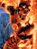 Ultimate Fantastic Four No.3 Cover: Human Torch Plastic Sign by Bryan Hitch