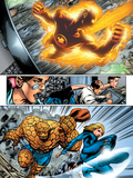 Marvel Adventures Fantastic Four No.5 Group: Human Torch, Invisible Woman and Thing Print by Manuel Garcia