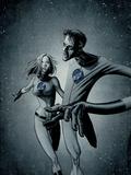 Marvek Knights 4 No.28 Cover: Mr. Fantastic and Invisible Woman Poster by David Aja