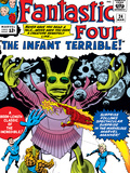 The Fantastic Four No.24 Cover: Mr. Fantastic Prints by Jack Kirby