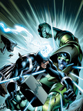 FF No.7 Cover: Black Bolt and Ronan the Accuser Fighting Prints by Mark Bagley