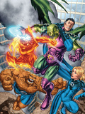 Marvel Adventures Fantastic Four No.0 Group: Mr. Fantastic Plastic Sign by Carlo Pagulayan