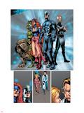 Marvel Knights 4 No.20 Group: Black Bolt, Medusa, Lockjaw, Triton, Karnak and Inhumans Wall Decal by Valentine De Landro