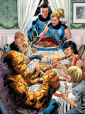 Fantastic Four No.564 Cover: Thor and Gauntlet Poster by Bryan Hitch