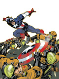Captain America V4, No.26 Cover: Captain America Plastic Sign by Dave Johnson