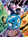 Fantastic Four No.587 Cover: Thing, Human Torch, Invisible Woman, and Mr. Fantastic Plastic Sign by Alan Davis
