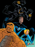 Fantastic Four Tales No.1 Group: Black Panther, Mr. Fantastic, Invisible Woman and Thing Posters by Michael OHare