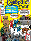 The Fantastic Four No.15 Cover: Mr. Fantastic Posters by Jack Kirby