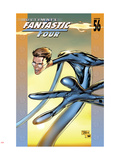 Ultimate Fantastic Four No.56 Cover: Mr. Fantastic Fighting Plastic Sign by Billy Tan