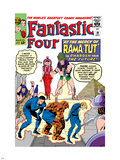 The Fantastic Four No.19 Cover: Mr. Fantastic Plastic Sign by Jack Kirby