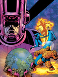 Fantastic Four V1 Cover: Galactus Plastic Sign by Mike Wieringo