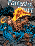 Marvel Adventures Fantastic Four No.1 Cover: Thing, Mr. Fantastic, Human Torch and Invisible Woman Print by Carlo Pagulayan