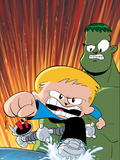 Franklin Richards: World Be Warned No.1 Cover: Richards, Franklin, Hulk and H.E.R.B.I.E. Wall Decal by Chris Eliopoulos