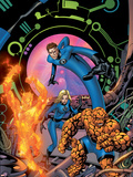 Fantastic Four No.534 Cover: Mr. Fantastic, Invisible Woman, Thing, Human Torch and Fantastic Four Plastic Sign by Mike McKone