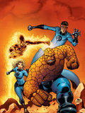 Fantastic Four No.509 Cover: Mr. Fantastic, Invisible Woman, Human Torch, Thing and Fantastic Four Plastic Sign by Mike Wieringo
