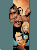 Ultimate Fantastic Four No.20 Cover: Thing, Mr. Fantastic, Invisible Woman and Human Torch Plastic Sign