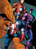 FF No.10: Thing, Captain America, Hawkeye, and Iron Man Plastic Sign by Barry Kitson