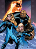 Ultimate Fantastic Four No.60 Cover: Invisible Woman, Mr. Fantastic, Thing and Human Torch Art by Ed McGuinness
