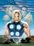 Ultimate Fantastic Four No.27 Cover: Thor Plastic Sign by Greg Land
