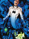 FF No.3 Cover: Mr. Fantastic Screaming and Stretching Plastic Sign by Daniel Acuna