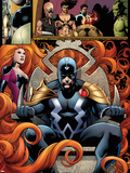 FF No.5: Panels with Black Bolt and Medusa Plastic Sign by Barry Kitson